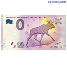 """0 Euro banknote 2019 Finland """"ALCES ALCES"""""""