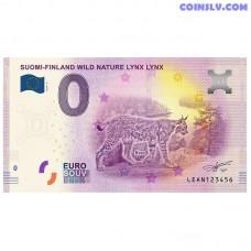 """0 Euro banknote 2019 Finland """"LYNX LYNX"""""""