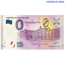 """0 Euro banknote 2019 Finland """"TAMPERE"""""""