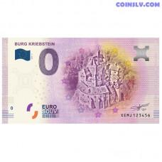 """0 Euro banknote 2019 Germany """"BURG KRIEBSTEIN"""""""