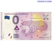 """0 Euro banknote 2019 Norway """"NORGE SVALBARD SPITSBERGEN"""""""