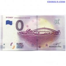 0 Euro banknote 2019 - Sydney