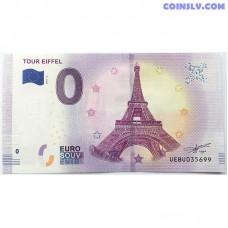 0 Euro banknote 2019 - Tour Eifel