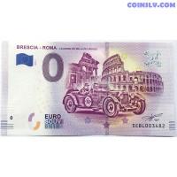 0 Euro banknote 2019 - Brescia - Roma