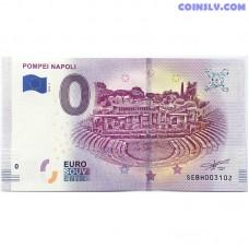 0 Euro banknote 2019 - Pompei Napoli