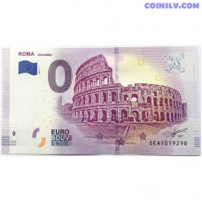 0 Euro banknote 2019 - Roma Colosseo