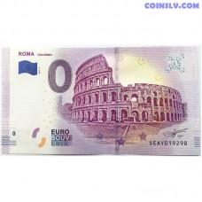 0 Euro banknote 2019 - Roma Colosseo