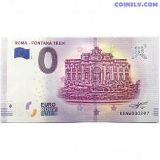 0 Euro banknote 2019 - Roma Fontana Travi
