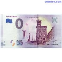 "0 Euro banknote 2019 - San Marino ""Palazzo del Governo"""