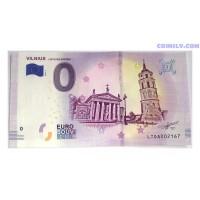 0 Euro banknote 2019 - Vilnius