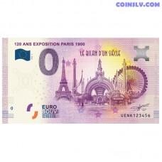 "0 Euro banknote 2020 France ""120 ANS EXPOSITION PARIS 1900"""