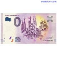 "0 Euro banknote 2020 Spain ""SAGRADA FAMILIA"""