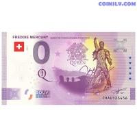 """0 Euro banknote 2021 Switzerland """"FREDDIE MERCURY"""""""