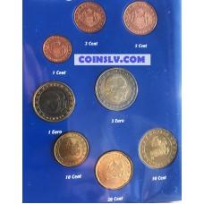 Monaco 2001 UNC (Uncirculated) euro coin set (8 coins)