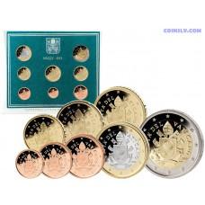 """Vatican 2019 official BU euro set """"PONTIFICATO DI PAPA FRANCESCO"""" (8 coins)"""