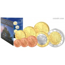 Andorra 2015 BU official euro set 1 cent - 2 euro