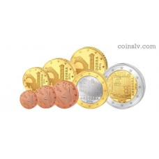 Andorra 2014 euro set 1 cent - 2 euro UNC (8 coins)
