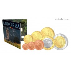 Andorra 2016 BU official euro set 1 cent - 2 euro