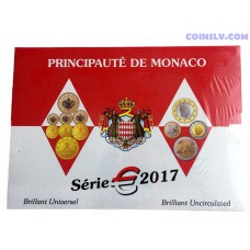 Monaco 2017 official BU euro coin set (8 coins)