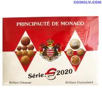 Monaco 2020 official BU euro coin set (8 coins)