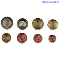 Andorra euro set 1 cent - 2 euro UNC mix year (8 coins)