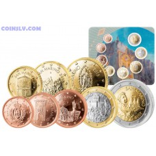 San Marino 2018 BU official euro set 1 cent - 2 euro