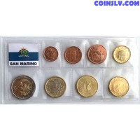 San Marino euro set 1 cent - 2 euro UNC mix year (8 coins)