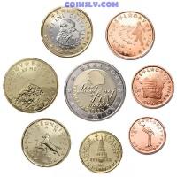Slovenia 2007 euro set 1 cent - 2 euro