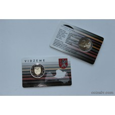 "2 euro coincard BU Latvia 2016 ""Vidzeme"""