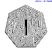 Latvia 1 Lats 2006 - Coin of Digits
