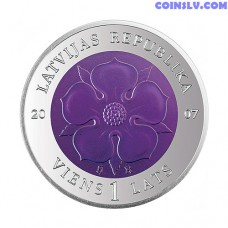 Latvia 1 Lats 2007 - Coin of Time II