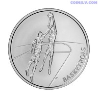 "Latvia 1 Lats 2008 - Coin ""Basketball"""