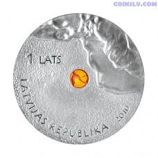 "Latvia 1 Lats 2010 ""Amber Coin"""