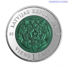 "Latvia 1 Lats 2010 ""Coin of Time III"""
