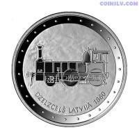 """Latvia 1 Lats 2011 """"Railway in Latvia"""""""