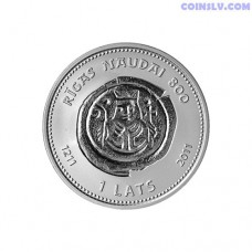 "Latvia 1 Lats 2011 ""Riga Money 800"""