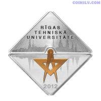 """Latvia 1 Lats 2012 """"Riga Technical University"""""""