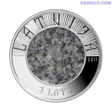 """Latvia 1 Lats 2012 """"Stone Coin"""""""