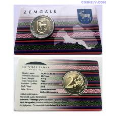 Coincard 2 Euro BU Latvia 2018 - Zemgale