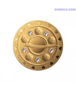 Latvia 75 euro 2018 - Gold Brooches. The Bubble Fibula