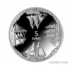 "Latvia 5 euro 2014 ""Ainazi Nautical School"""