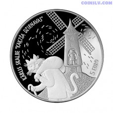 Latvia 5 euro 2019 - Cat's Mill