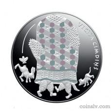 """Latvia 5 euro 2017 """"Fairy Tale Coin III. The Old Man's Mitten"""""""