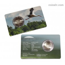 "2 euro coincard BU Latvia 2015 ""Stork"""