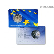 2 euro coincard BU Latvia 2015 - The 30th anniversary of the EU flag