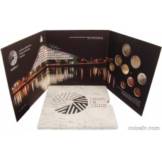 "Latvia 2015 BU official euro ""Presidency"" set (9 coins)"