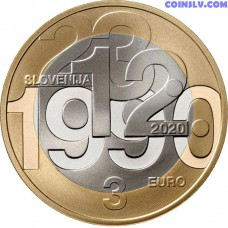 3 Euro Slovenia 2020 - 30th anniversary of plebiscite on sovereignty and independence of the Republic of Slovenia
