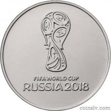 """Russia 25 rubles 2018 """"2018 FIFA World Cup Russia"""""""