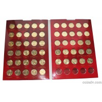 Russia 10 rubles 55 coin set 2010-2016 in album
