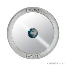 "Latvia 5 euro 2016 ""The Earth"""